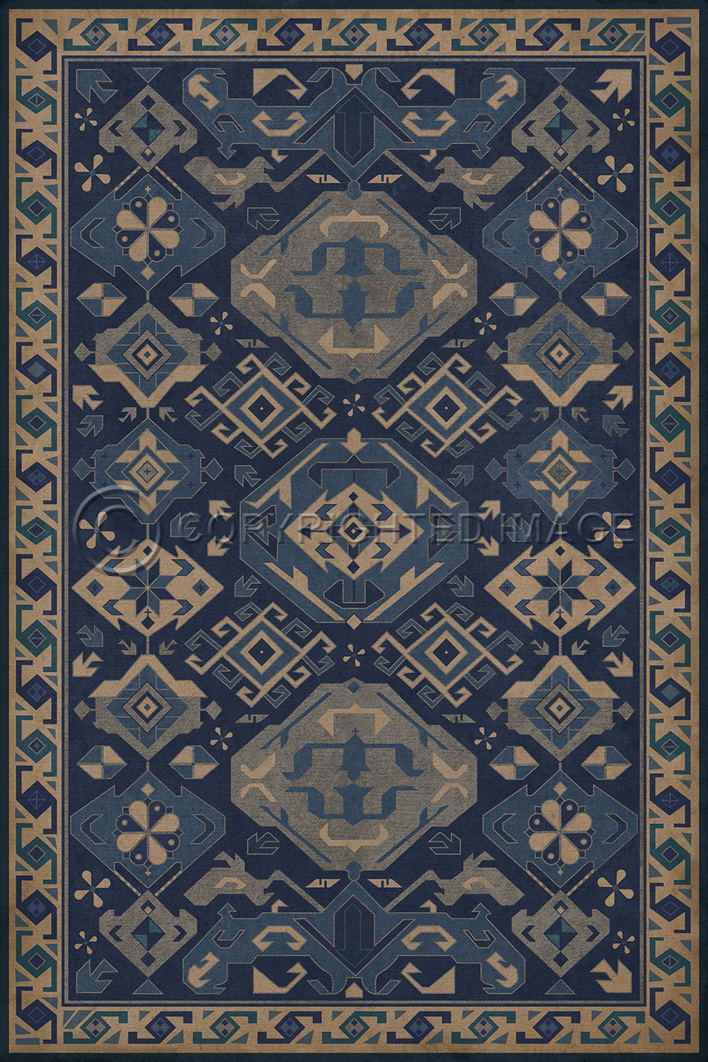 Williamsburg Floorcloth Traditional Nankeen Alex Pifer